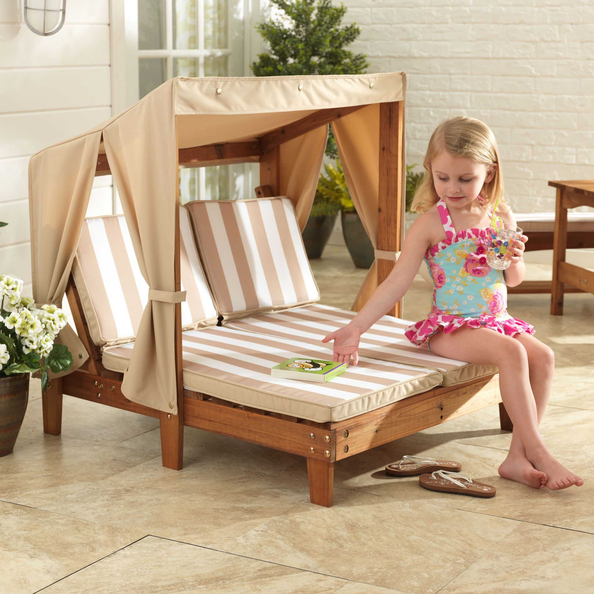This Chaise Lounger Is Designed With Kid Friendly