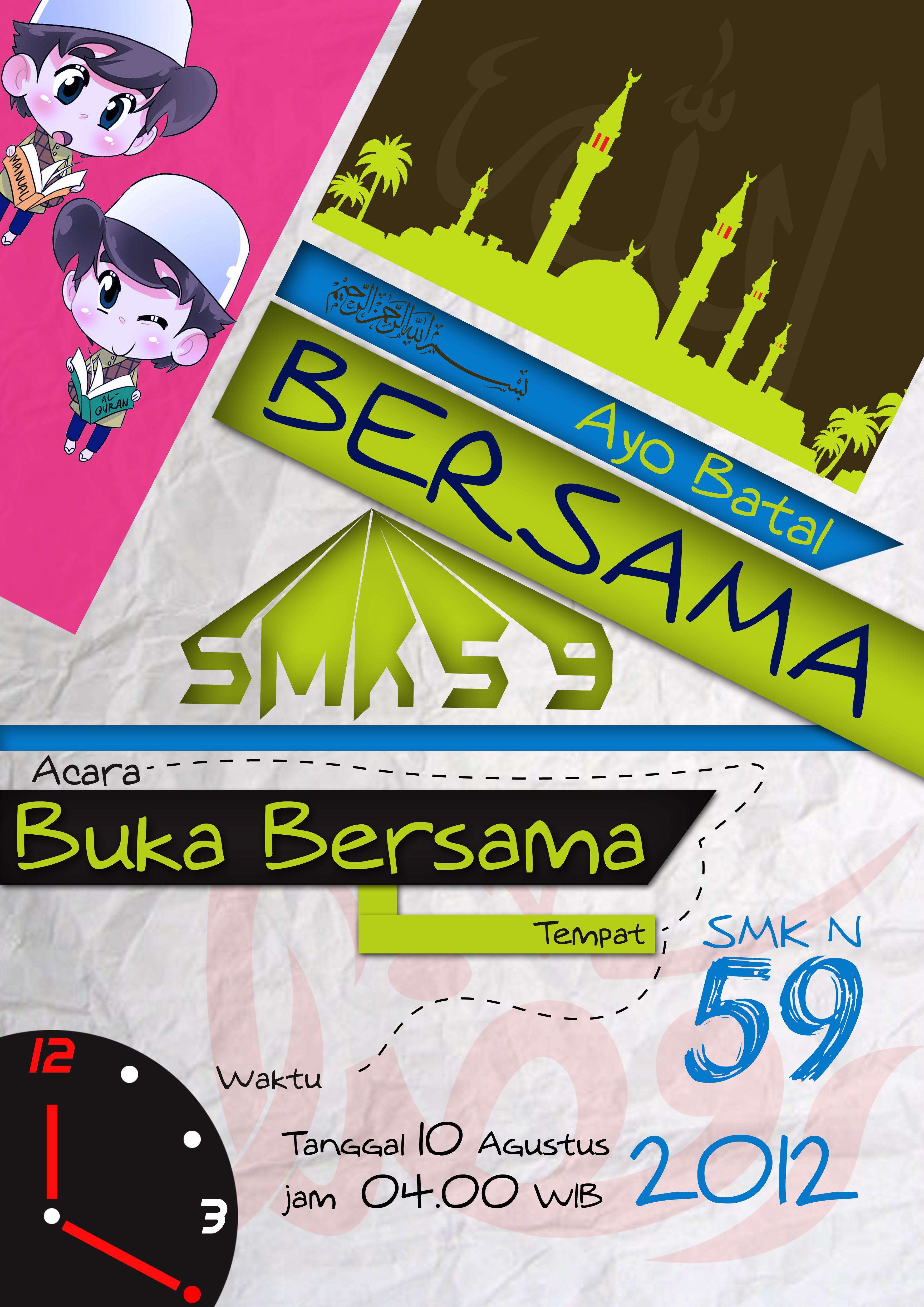 Design banner wisuda - Desain Poster Buka Bersama
