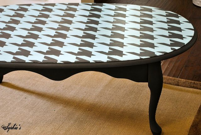Houndstooth Coffee Table DIY