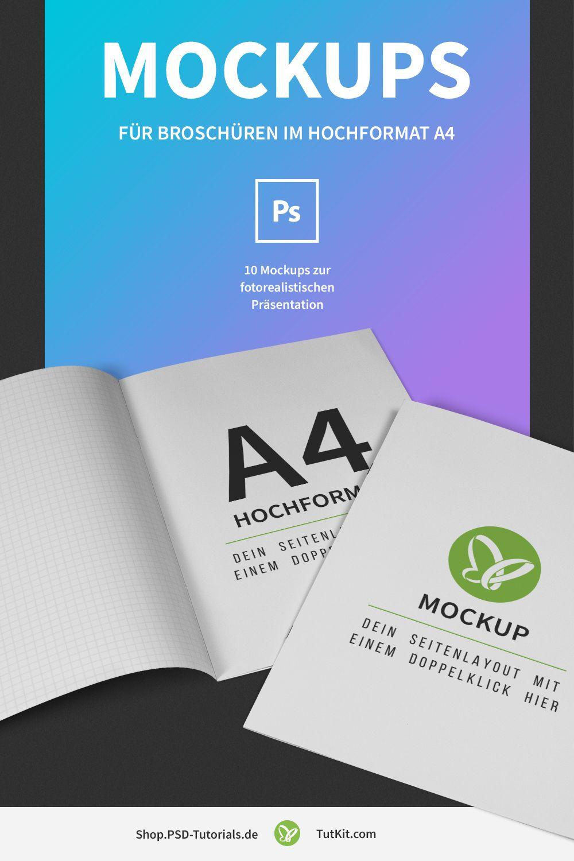 Mockups Für Broschüren Im A4 Hochformat Mockups Für
