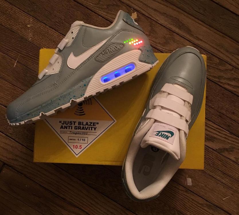 Just Blaze Got a Crazy Nike MAG Air Max 90 Custom for