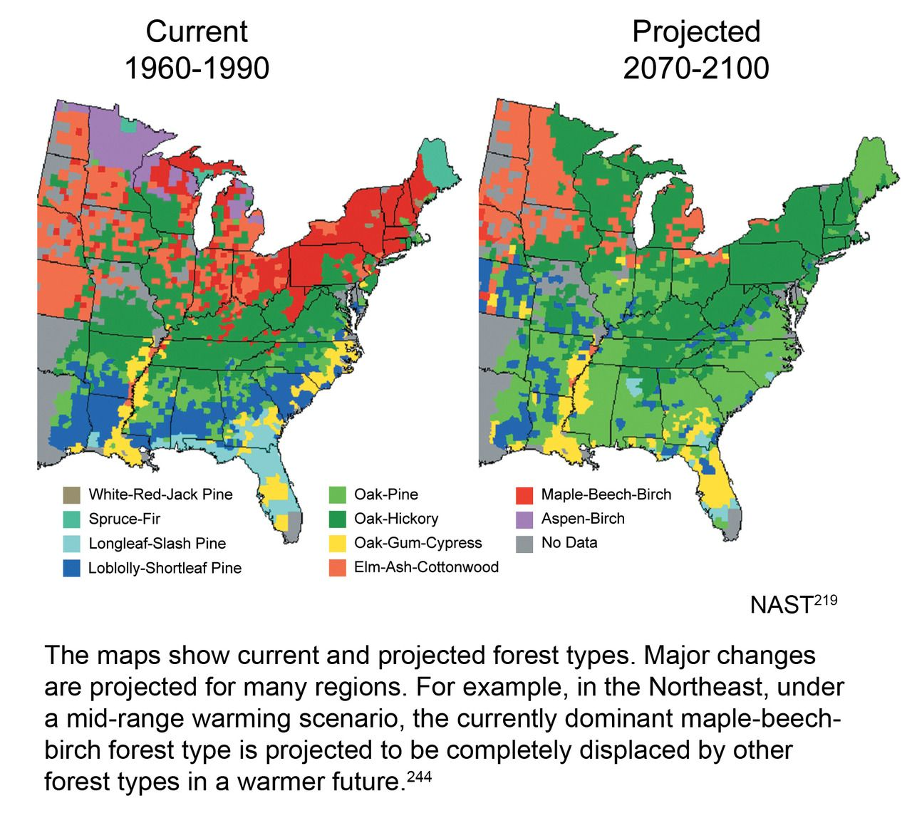 Nice USGCRP Projected US Forest Cover Map Maps Pinterest - Map of us forest regions