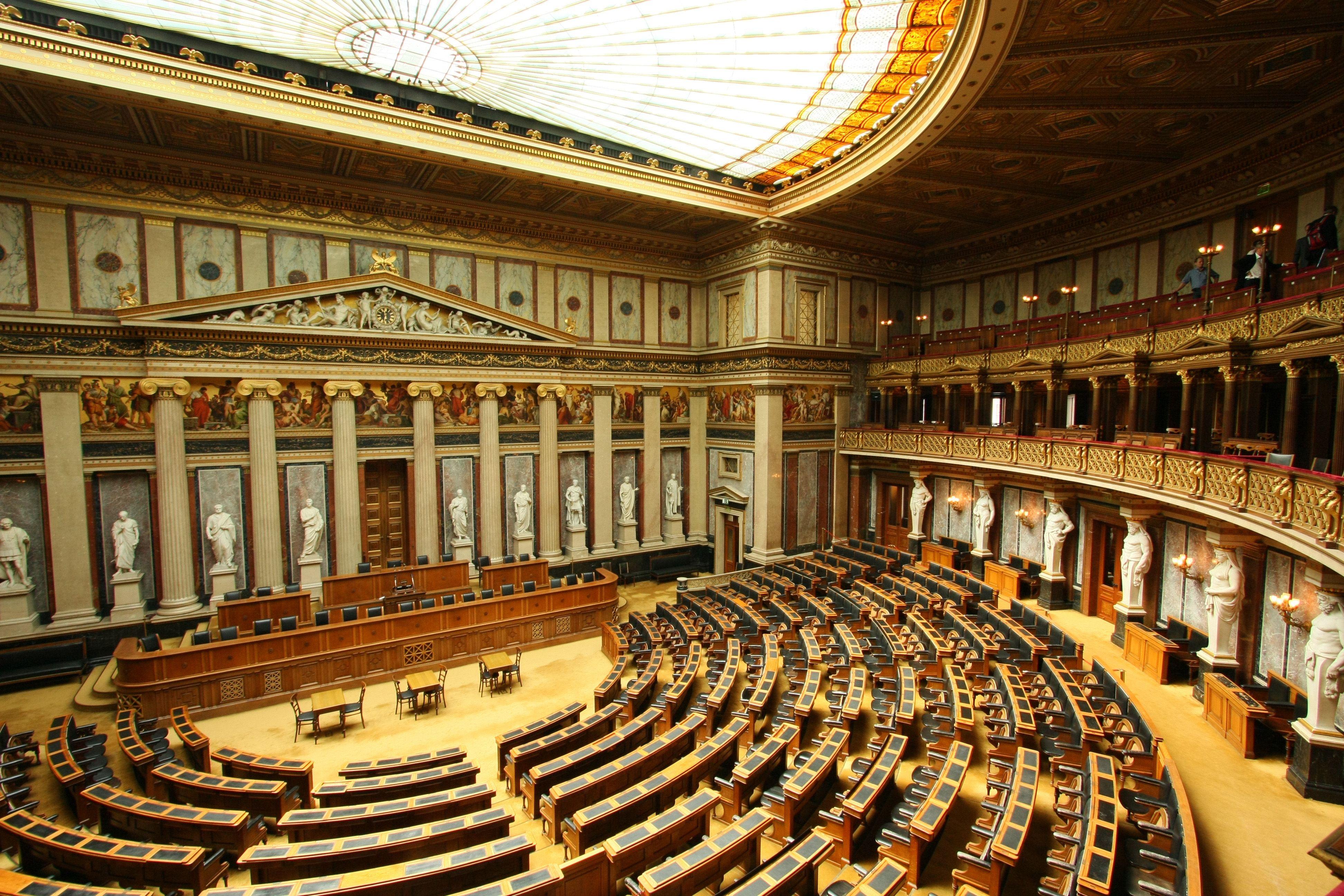 Austrian Parliament Building, Vienna   Classical interior design, Building,  Architecture