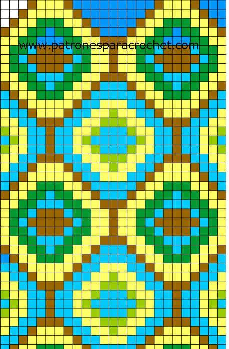 tecnica tapestry - patron para tejer mochila wayuu | Wayuu minták ...