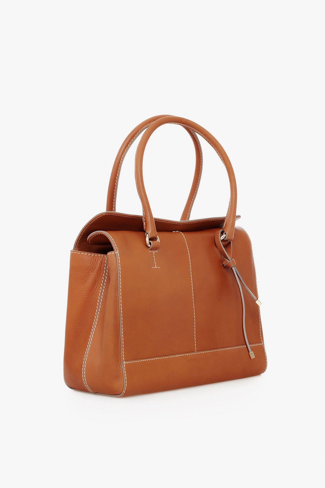 Satchel piel lilac maxi bolsos adolfo dominguez shop for Adolfo dominguez outlet online