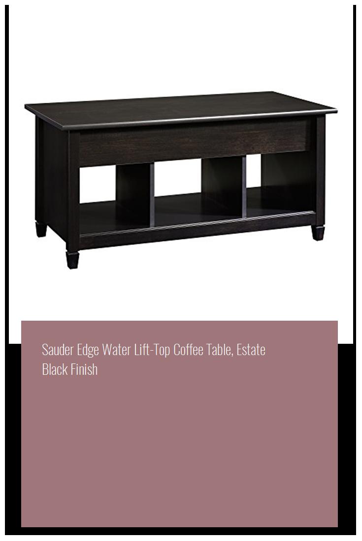 Sauder Edge Water Lift Top Coffee Table Estate Black Finish.Sauder Edge Water Lift Top Coffee Table Estate Black Finish Home