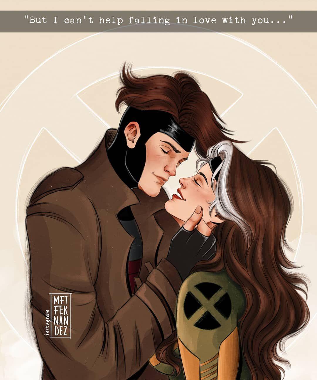 Casal Mais Lindo Dessa Equipe Xmen Gambit Rogue By Mftfernandez Marvel Rogue Rogue Gambit Avengers Coloring