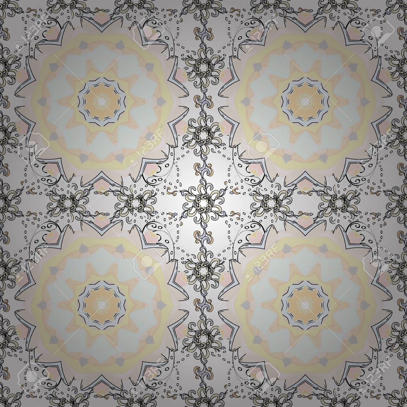 Colour spring theme seamless pattern background. Cute flowers pattern with neutral, white and, beige colors. , #SPONSORED, #seamless, #pattern, #background, #Colour, #spring