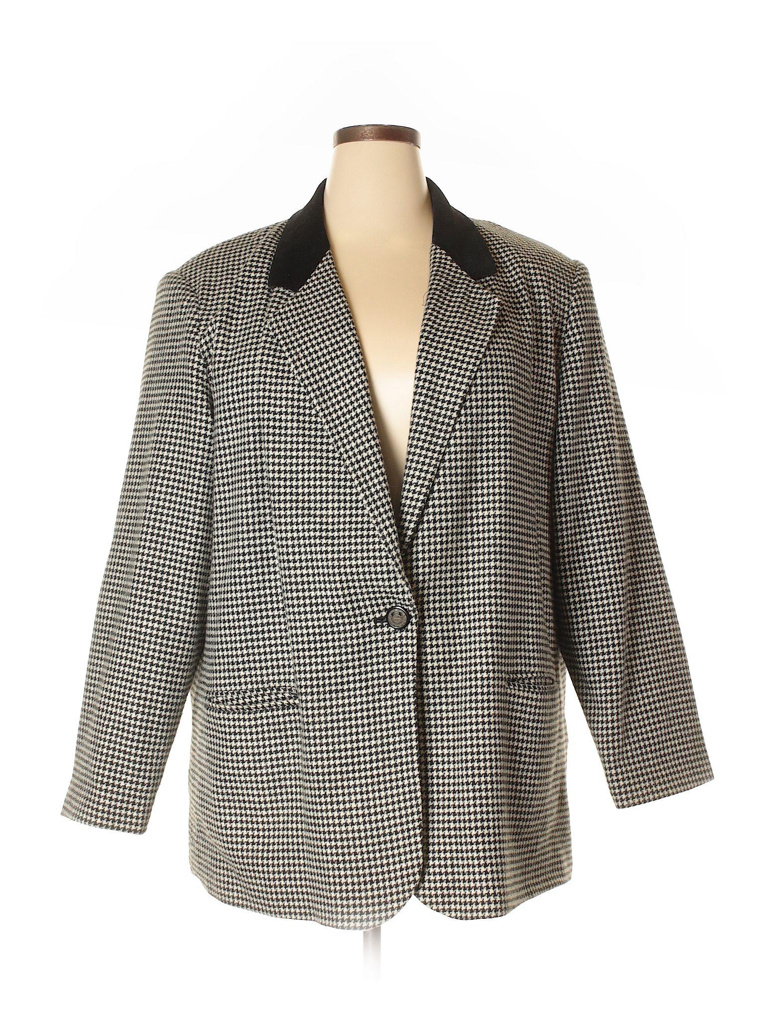 28ccefdd1eff Sag Harbor Wool Blazer: Size 22.00 Black Women's Jackets & Outerwear -  $18.99