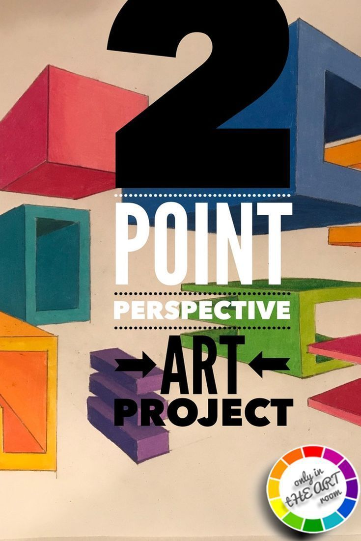 Art lesson TwoPoint Perspective ART project Geometric Shapes videos and rubric