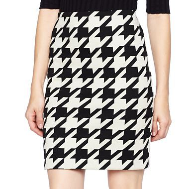 904a908bd6952 Worthington® Houndstooth Ponte Pencil Skirt - jcpenney