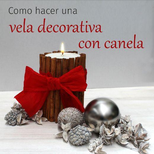 Cómo hacer una vela decorativa para centro de mesa navidad