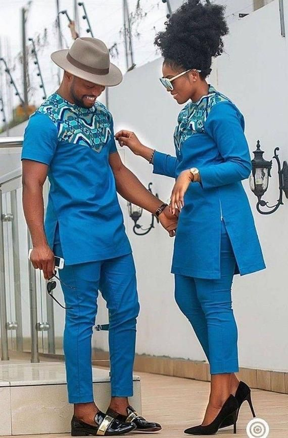 African men's clothing / African couples wear/ wed