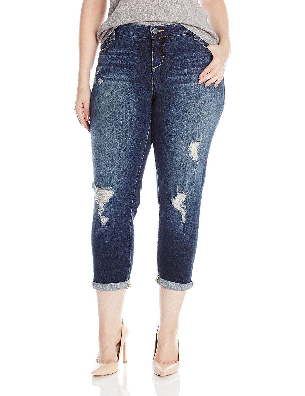 Slink Jeans Women S Plus Size Hunter Boyfriend This Is An Amazon