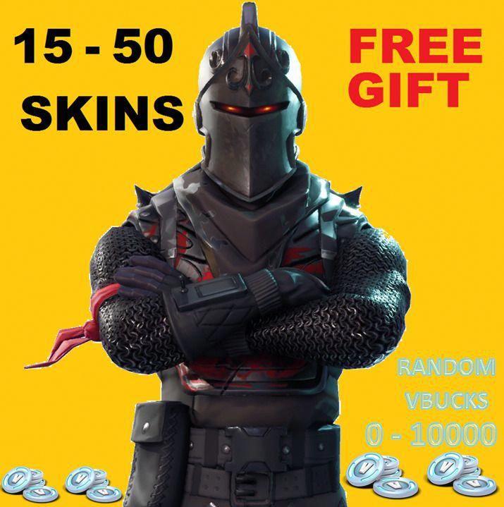 Fortnite Account 15 50 Skins *Bonus Free Account Per
