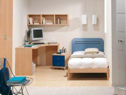 Camas para dormitorios juveniles crea espacios con - Dormitorios juveniles espacios pequenos ...
