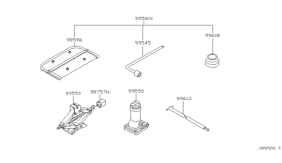 2001 Nissan Pathfinder Tool Kit & Maintenance Manual