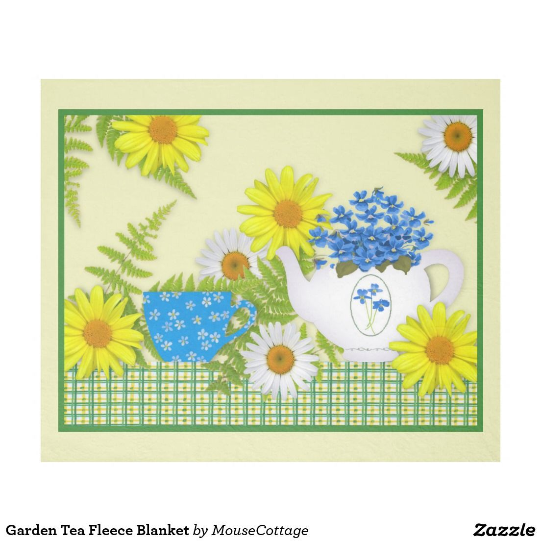 Garden tea fleece blanket