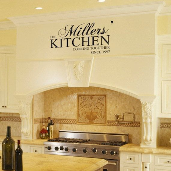Custom Last Name Kitchen Wall Decals Wall Words Art Wall Stickers ...