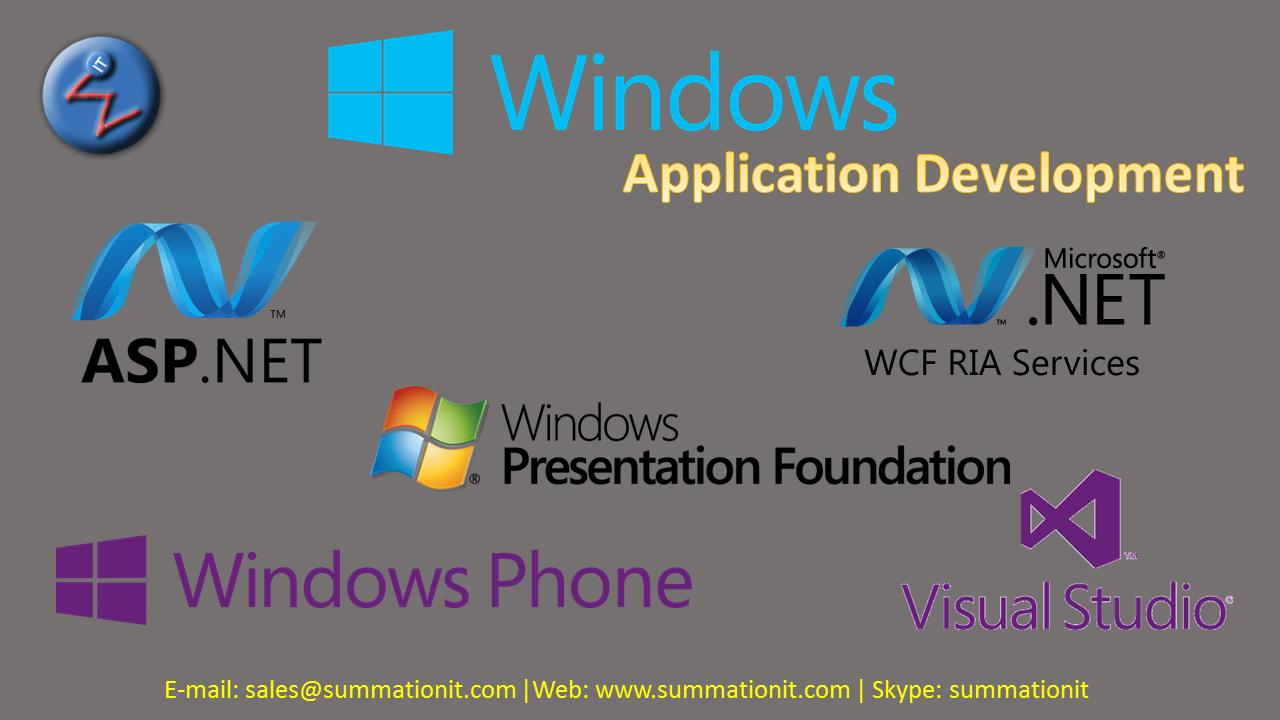 Windows Application Development Summationit Wpf Wcf Asp Aspdotnet Dotnet Aspmvc V Windows Presentation Foundation Application Development Development