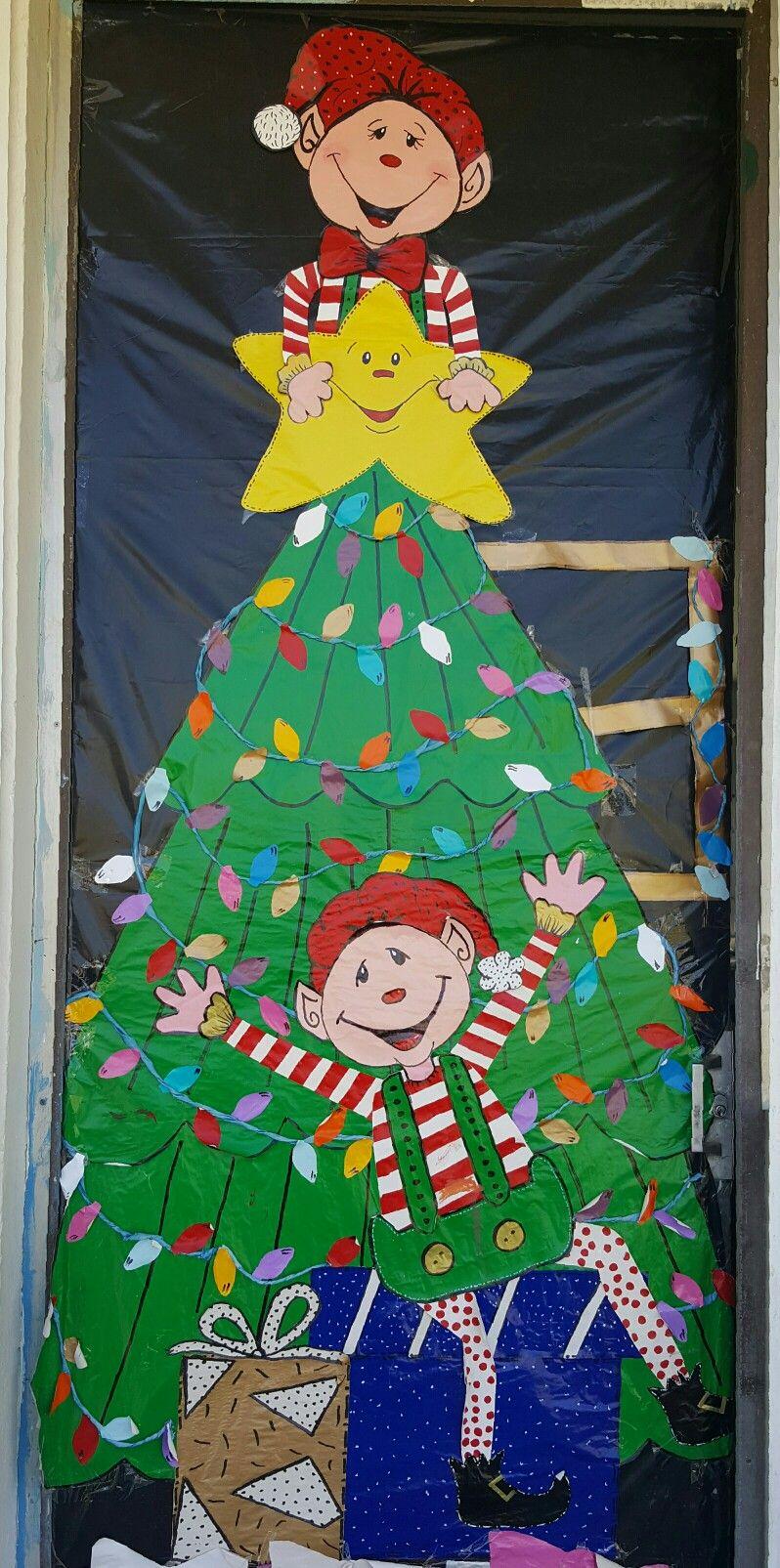 Decoraci n escolar tem tica para puerta del aula navidad for Puertas decoradas navidad material reciclable