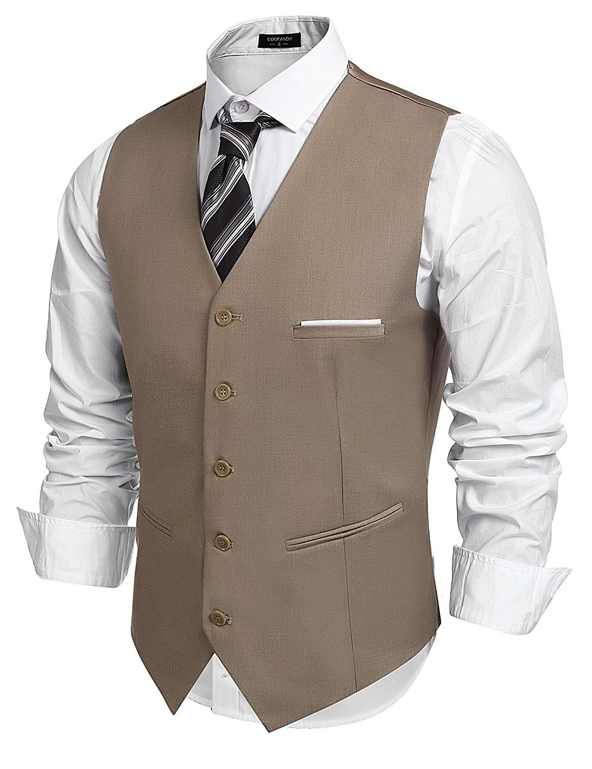 aefcae86559 Men's Fashion Formal Slim Fit Business Dress Suit Vest Waistcoat ...