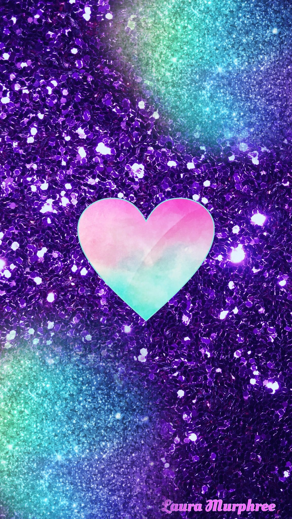Glitter Heart Phone Wallpaper Sparkle Background Bling Shimmer