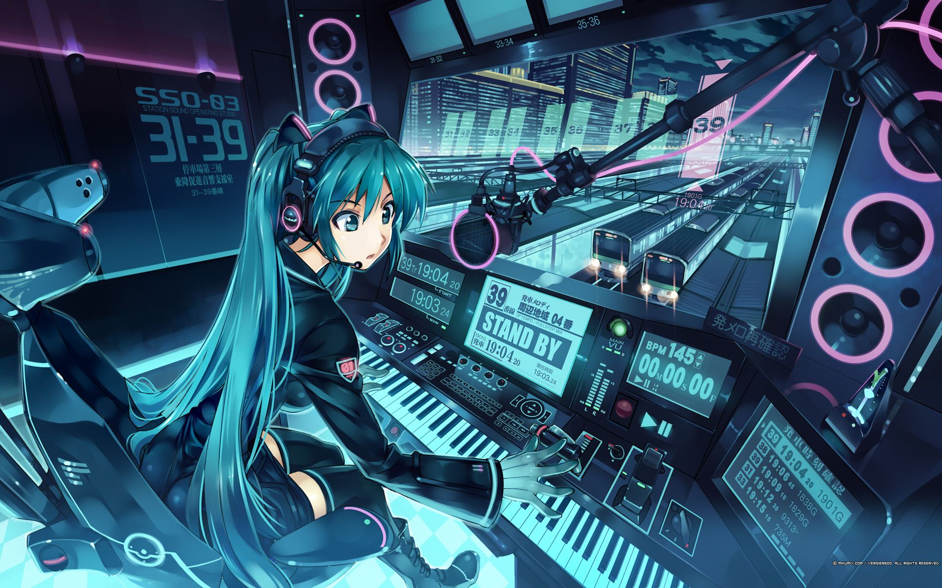 Girls Wearing Headphones Wallpaper 1920x1200 Id 23832 Cool Anime Wallpapers Hd Anime Wallpapers Anime Background
