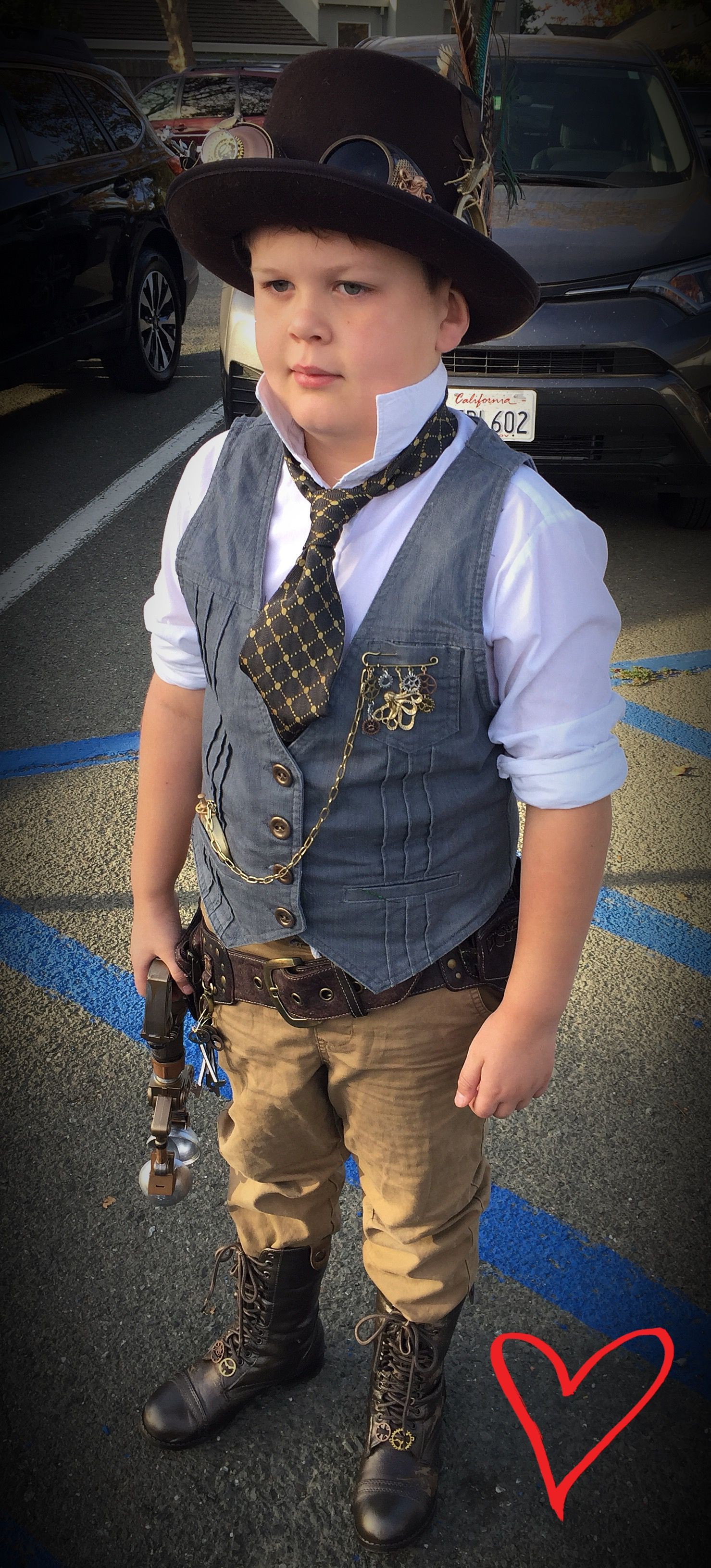 Diy Steampunk Kid Costume Made Using Thrift Store Items