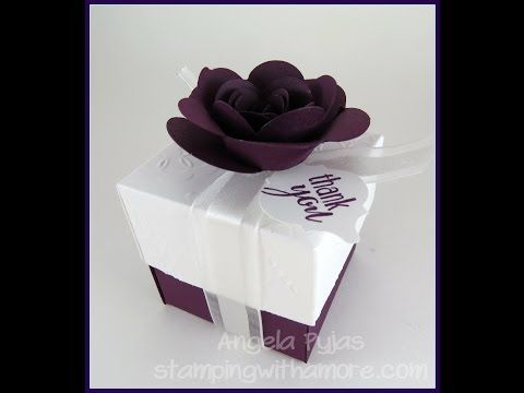 Favor Box Wedding and Party with Sizzix Big Shot Plus Starter