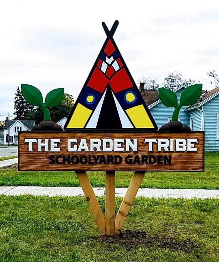 Quint Creative's Precision Board Garden Tribe Sign   Faux