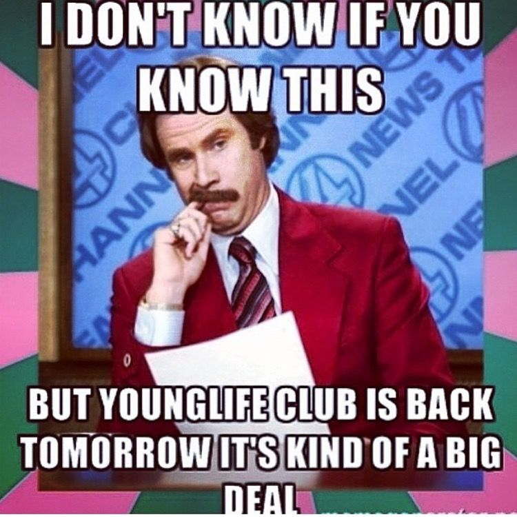 Pin By Robb Schreiber On A Young Life Wyldlife Meme Pics Yl Club Ideas Instagram Posts Young Life Meme Pictures Young