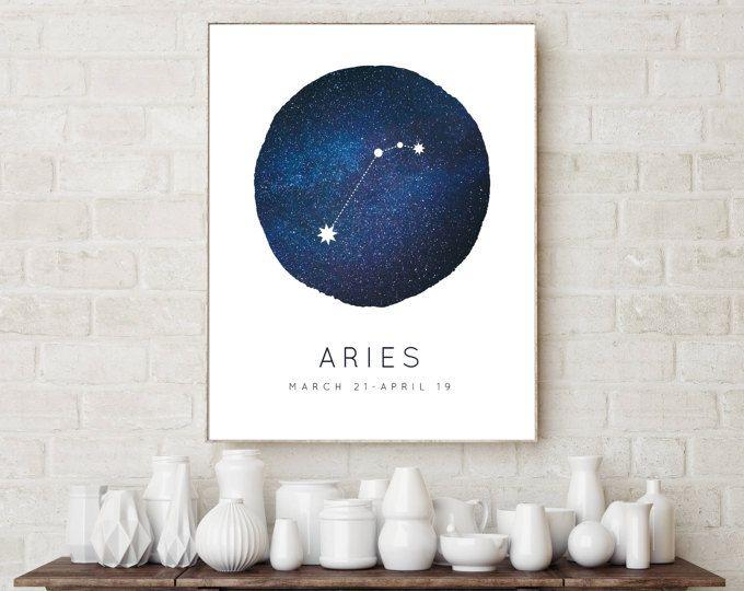 Aries signo Arte Foto impresión Poster Regalo Zodiac Astrología