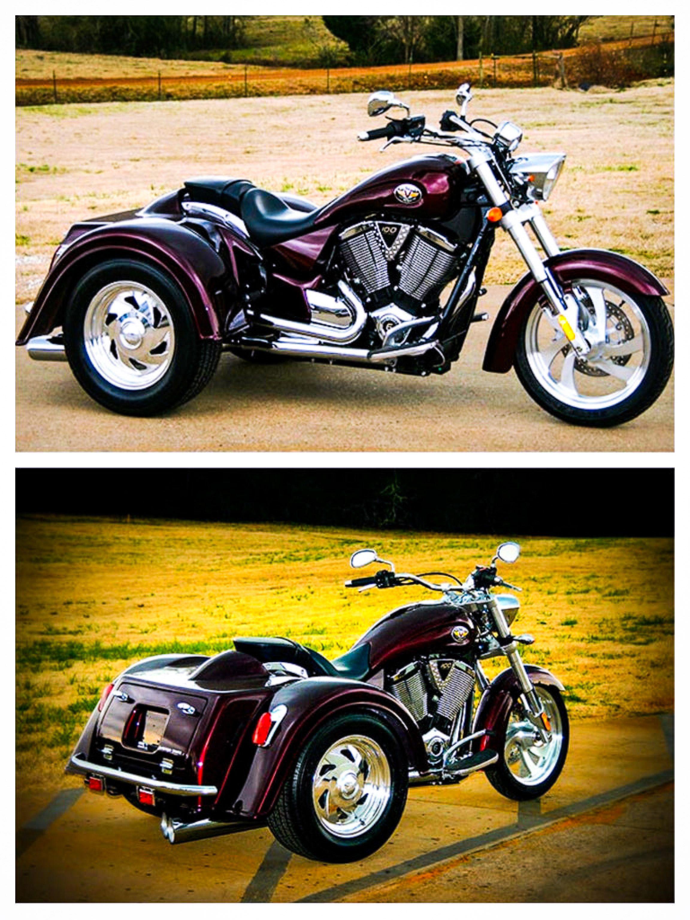 Motor Trike Inc Victory Kingpin Trike Kit Price 7 995 Http Www Motortrike Com Trikekingpin Aspx Trike Motorcycle Harley Bikes Trike