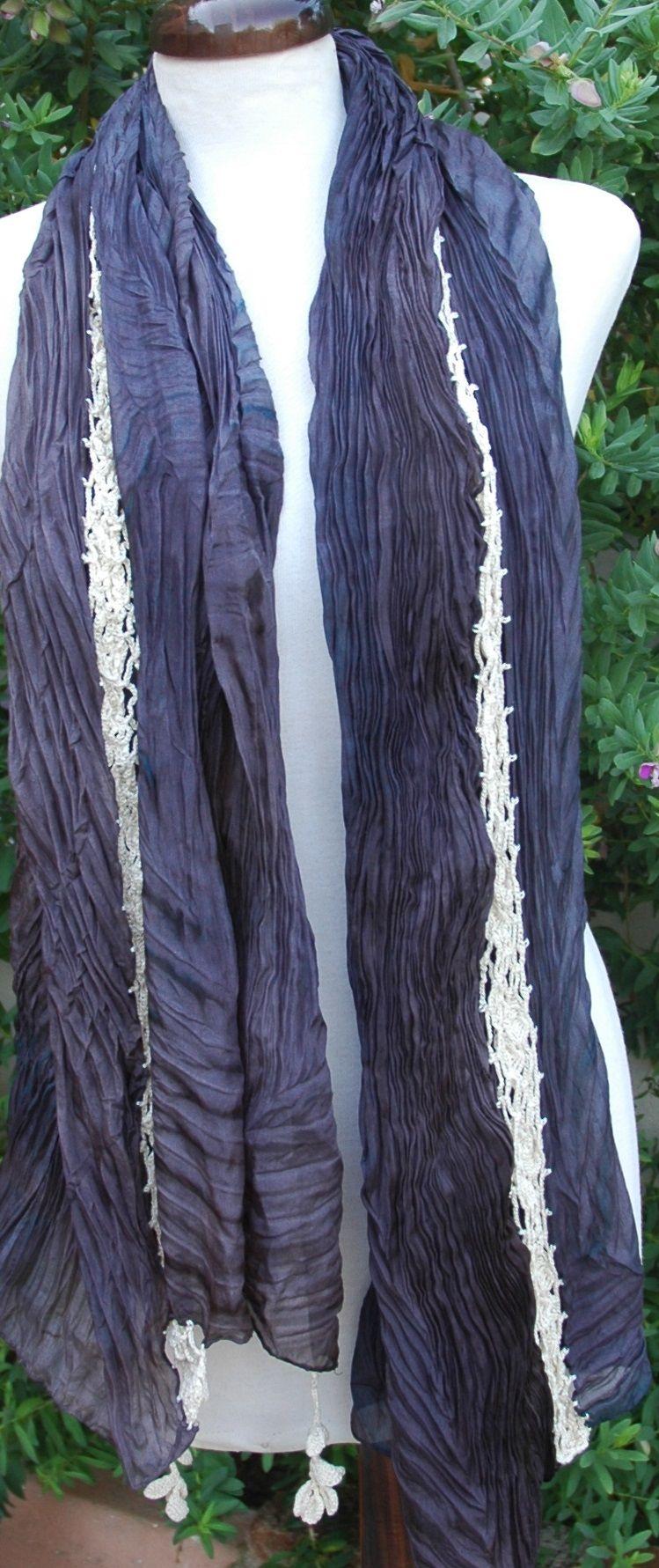 shibori, seda plisada