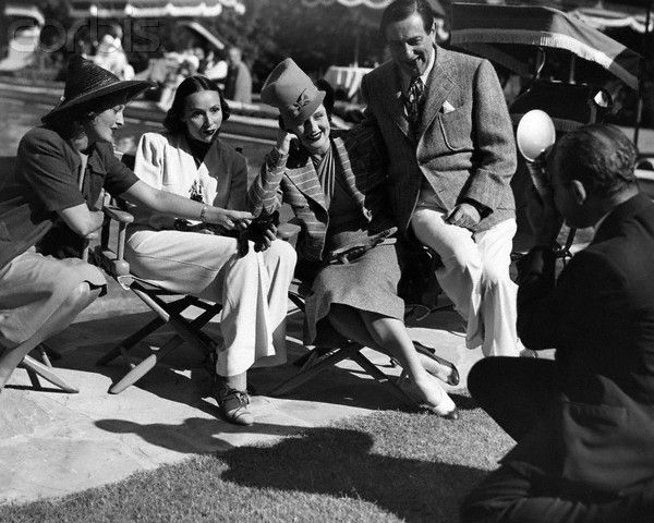 Jeanette with Dolores Del Rio, Norma Shearer, and Ernst Lubitsch