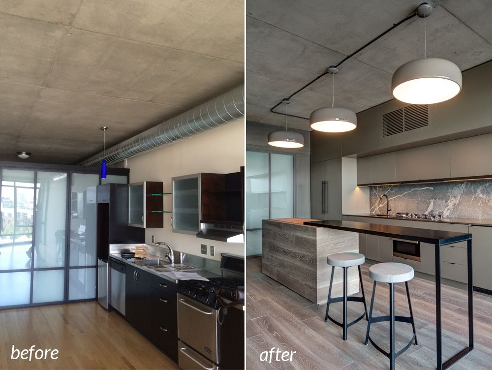 Condo Remodel Before And After Kitchen Before And After In Portland Condo Remodel Hammer Hand Condo Remodel Diy Kitchen Remodel Kitchen Remodel
