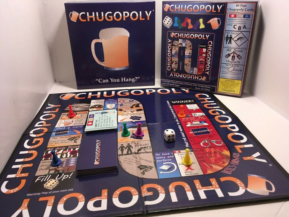 Chugopoly Can You Hang Adult Board Game Monopoly Style