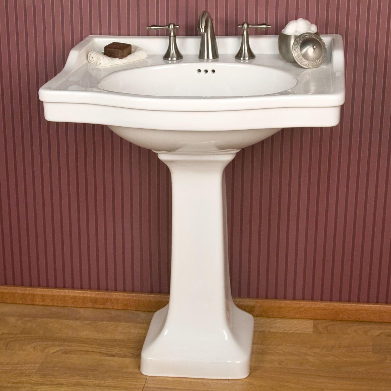 Cierra Large Porcelain Pedestal Sink Pedestal Sink Pedestal and