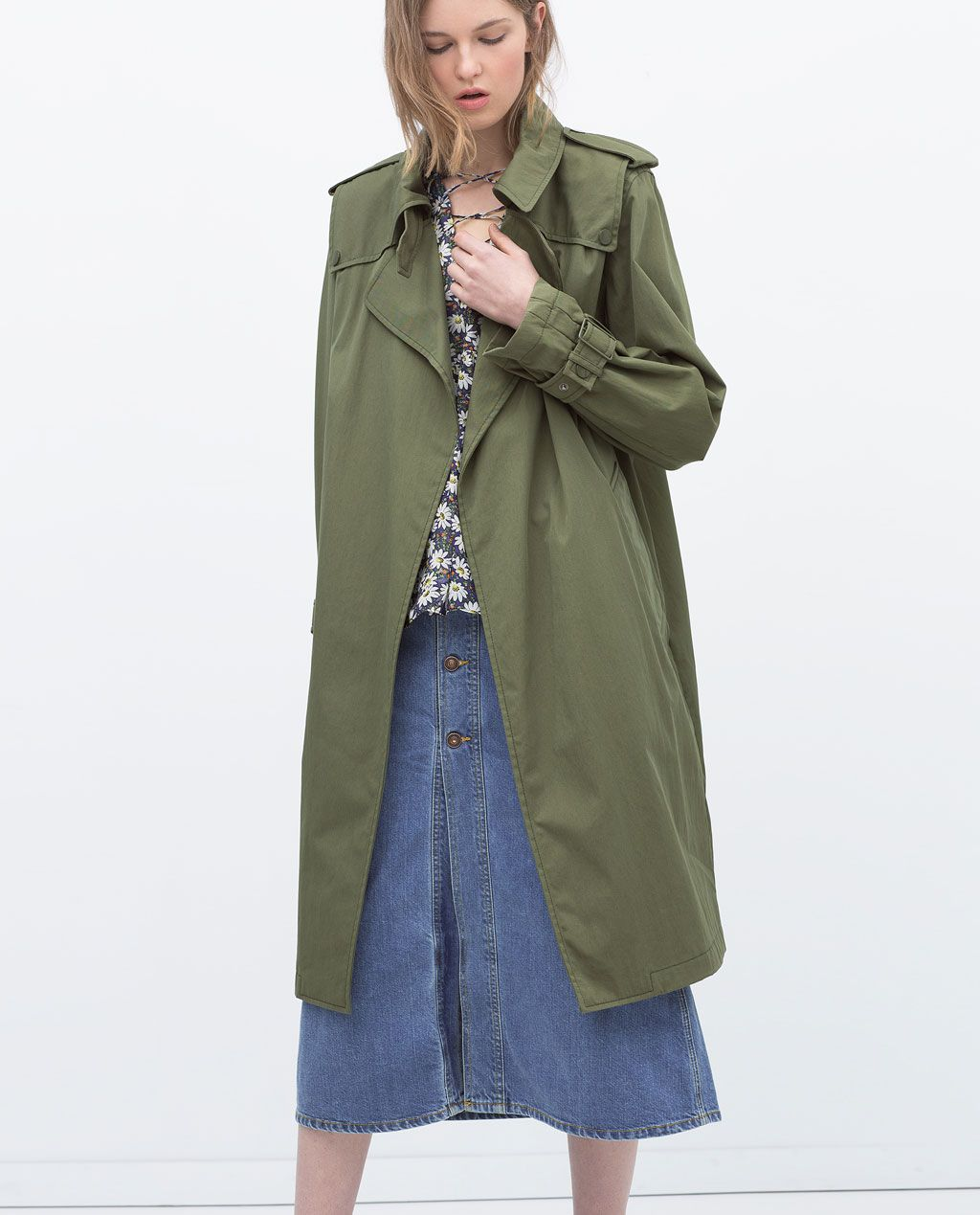922aad02 Image 1 of OVERSIZED COTTON TRENCHCOAT from Zara | Wardrobe [4 women ...