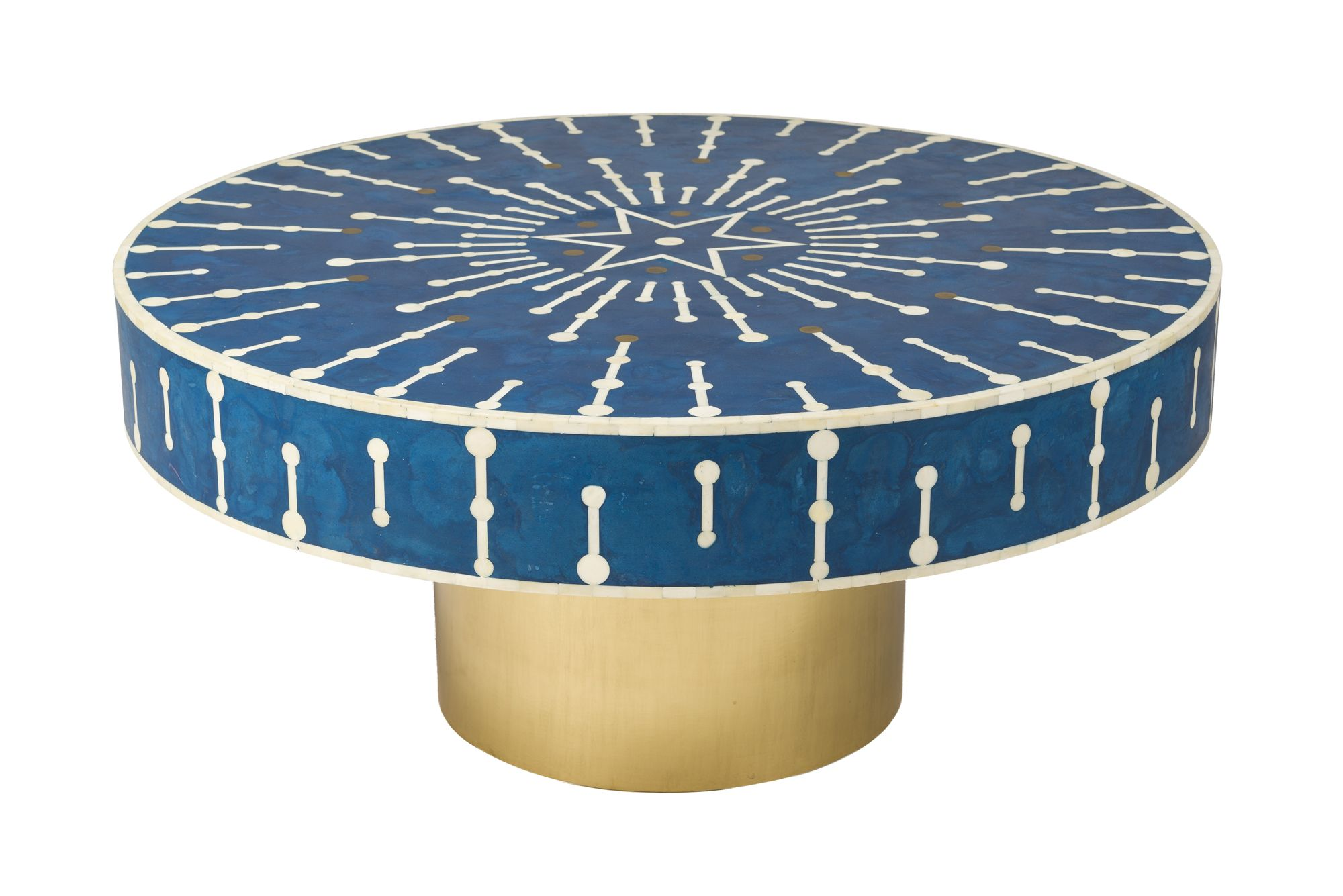 5th Ave Santorini Coffee Table Has A Bone And Resin Inlay This