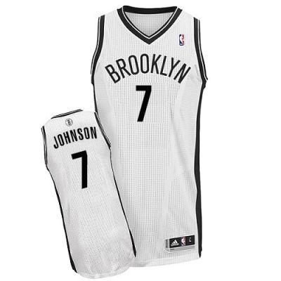 Joe Johnson Authentic In White Adidas NBA Brooklyn Nets  7 Men s Home Jersey 01eb75ebf