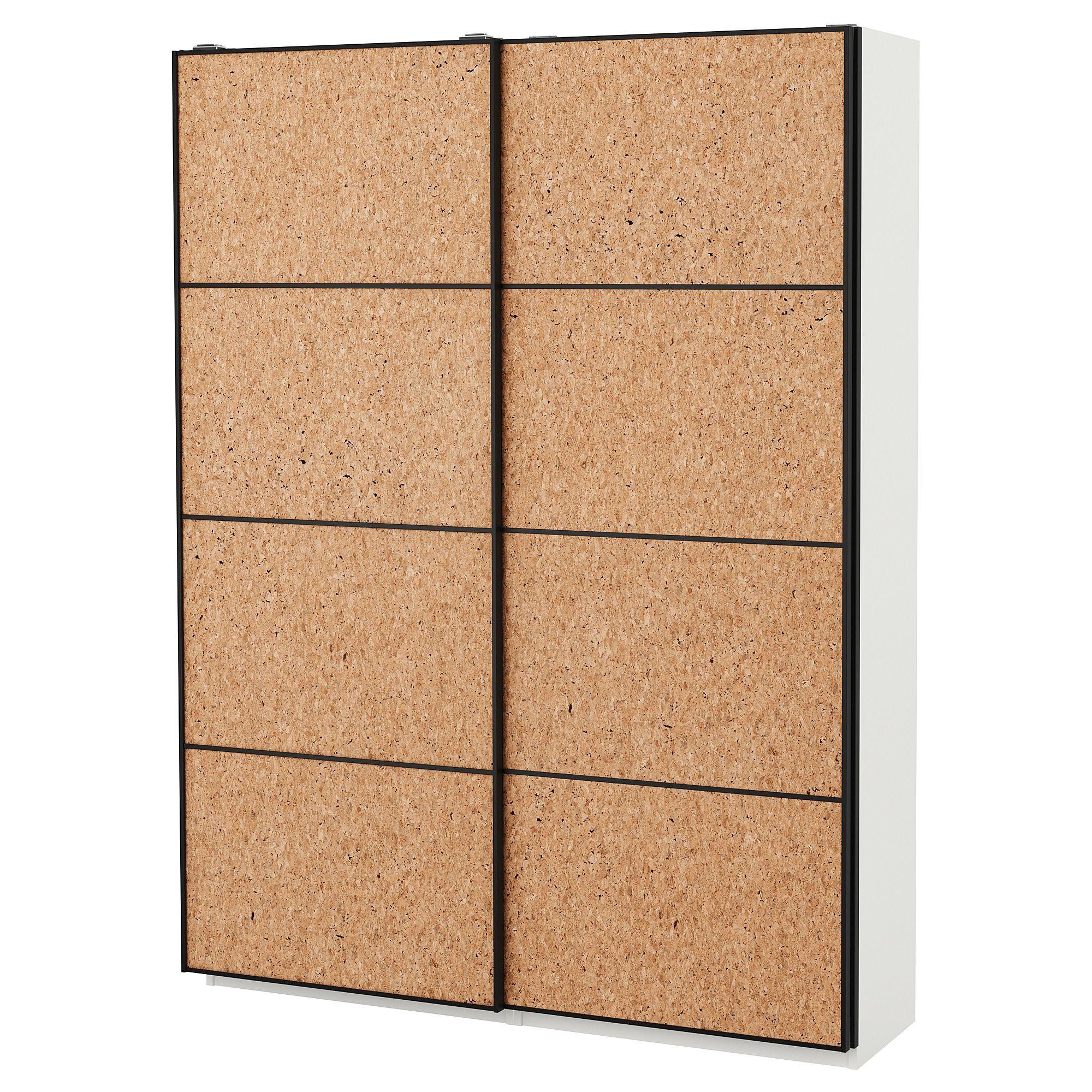 Panneau En Liège Ikea kirkenes 4 panels for sliding door frame - cork veneer 29 1