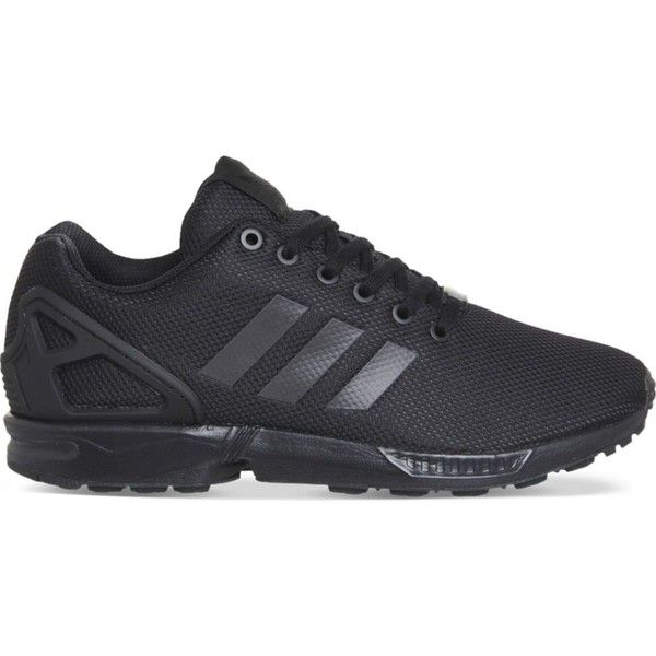 ADIDAS ZX flux trainers (£72) ❤ liked on Polyvore featuring shoes, sneakers, adidas trainers, rubber sole shoes, laced up shoes, adidas sneakers and adidas shoes