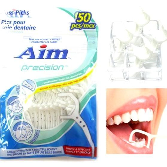 50 Dental Flossers Keep your teeth always healthy and clean  These disposable oral flossers are extr