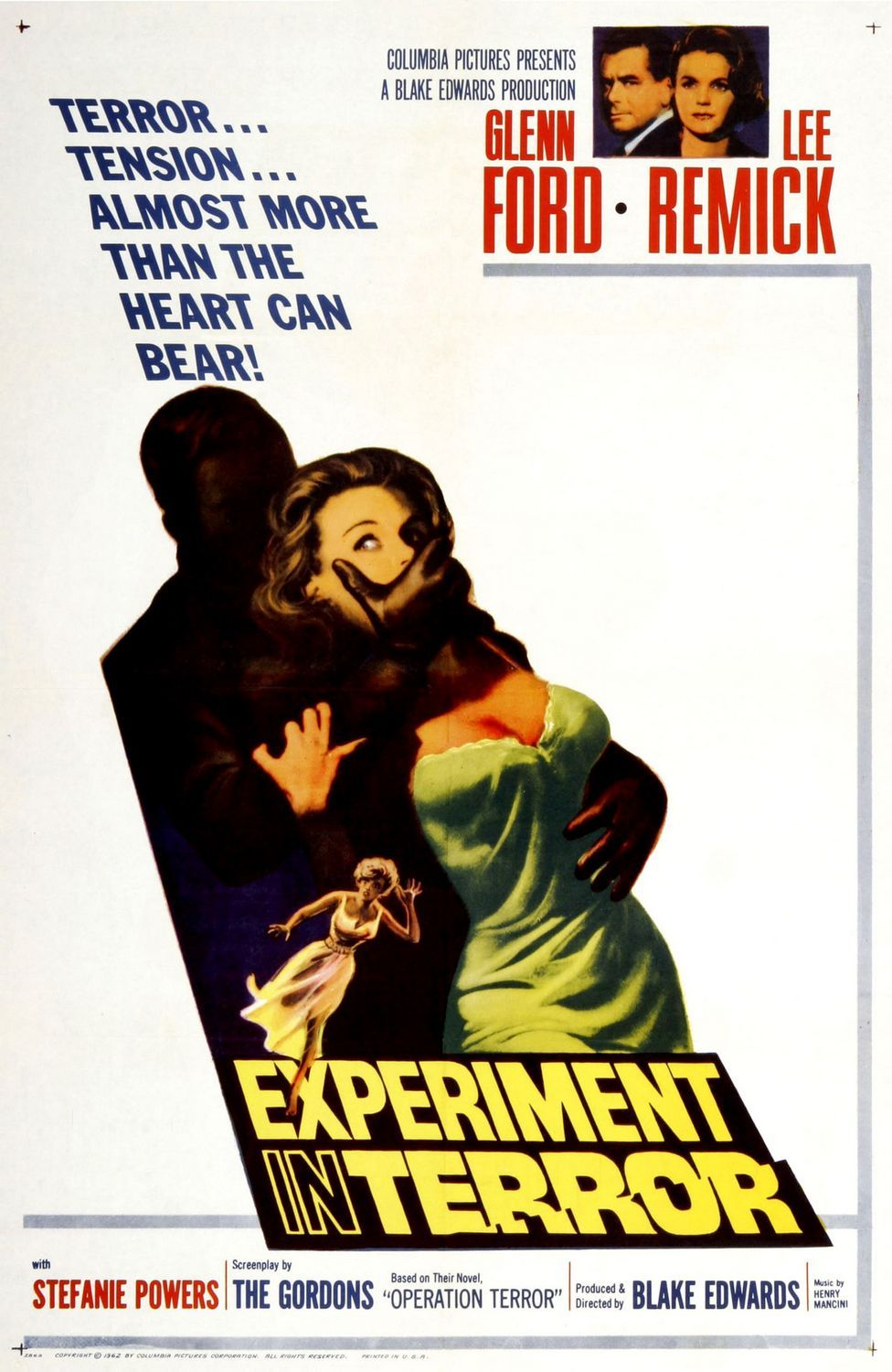 Experiment In Terror 1962 A Suspense Thriller Directed By