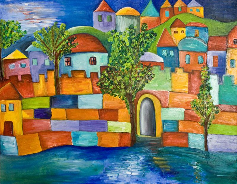 Colorful Town by Dora