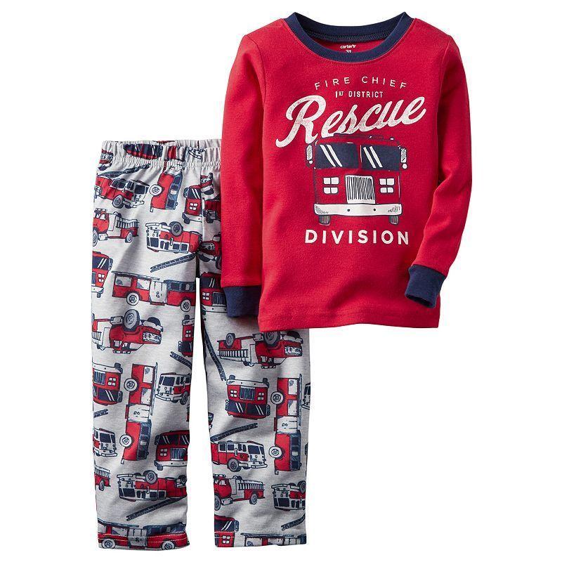 7108c21a5d0f Boys 4-8 Carter s Fireman 2-Piece Pajama Set