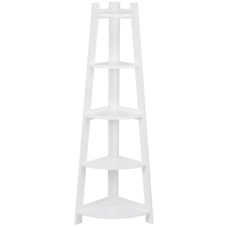 Hartleys white corner tier ladder shelf amazon kitchen