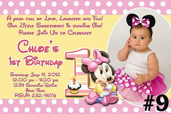 Kids Children Girls Pack of 20 Invites Minnie Mouse Birthday Party Invitations